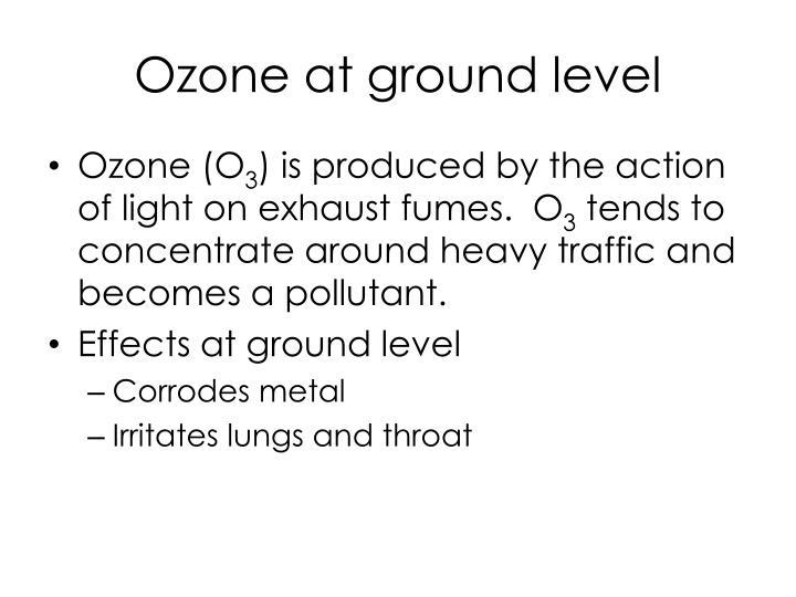 Ozone at ground level