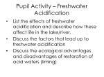 pupil activity freshwater acidification