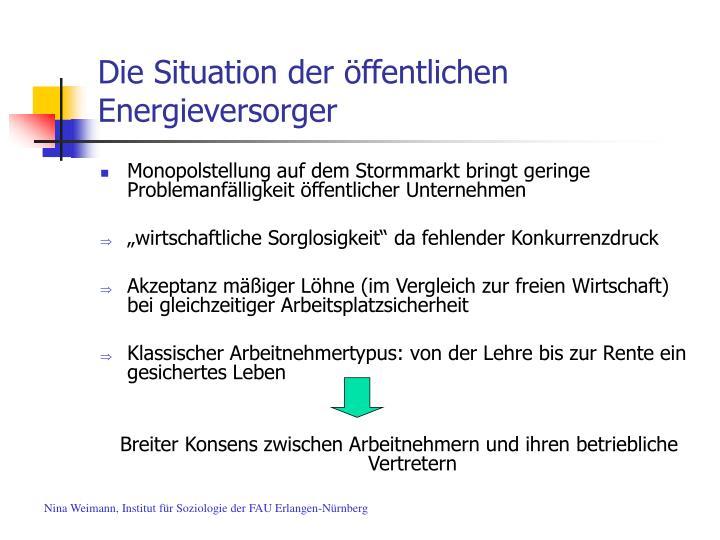 Die situation der ffentlichen energieversorger