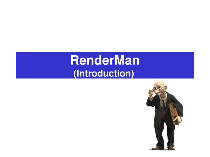 Renderman introduction