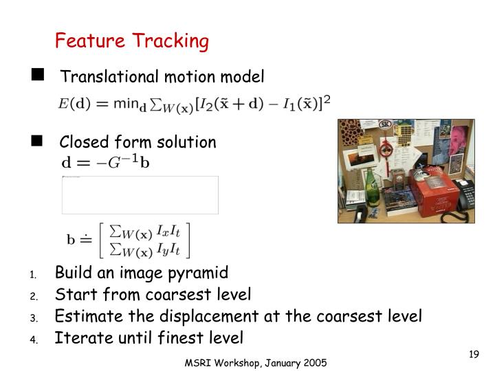 Feature Tracking