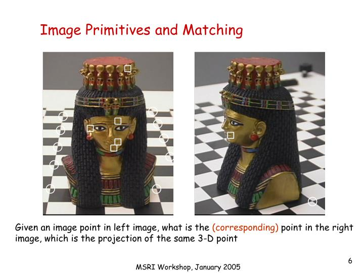 Image Primitives and Matching