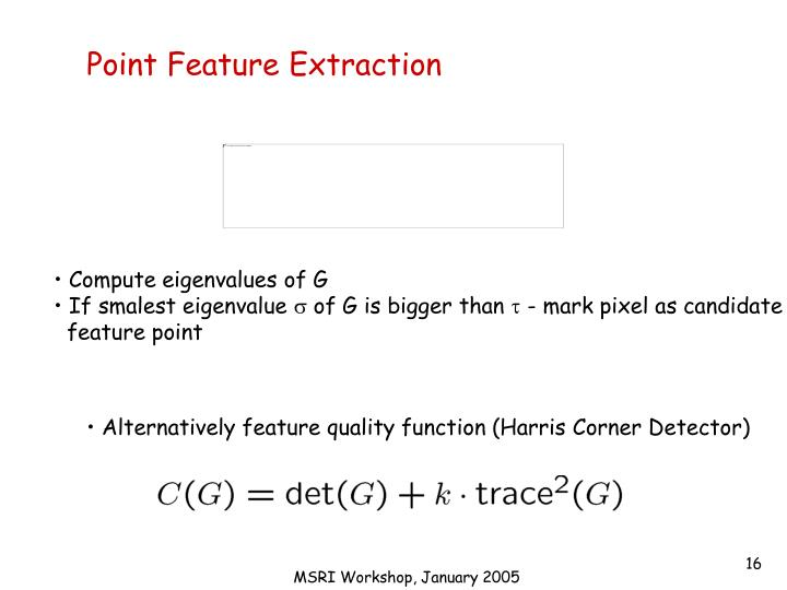 Point Feature Extraction