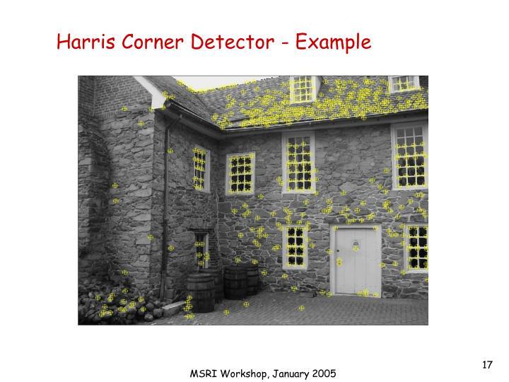 Harris Corner Detector - Example