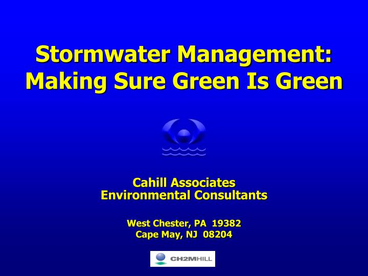 stormwater management making sure green is green n.