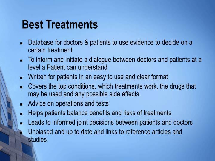 Best Treatments