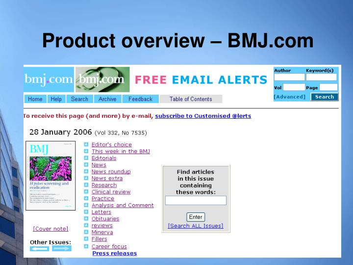 Product overview – BMJ.com