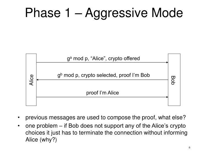 Phase 1 – Aggressive Mode