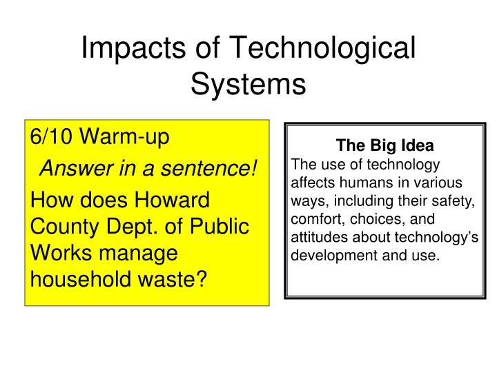 impacts of technological systems n.