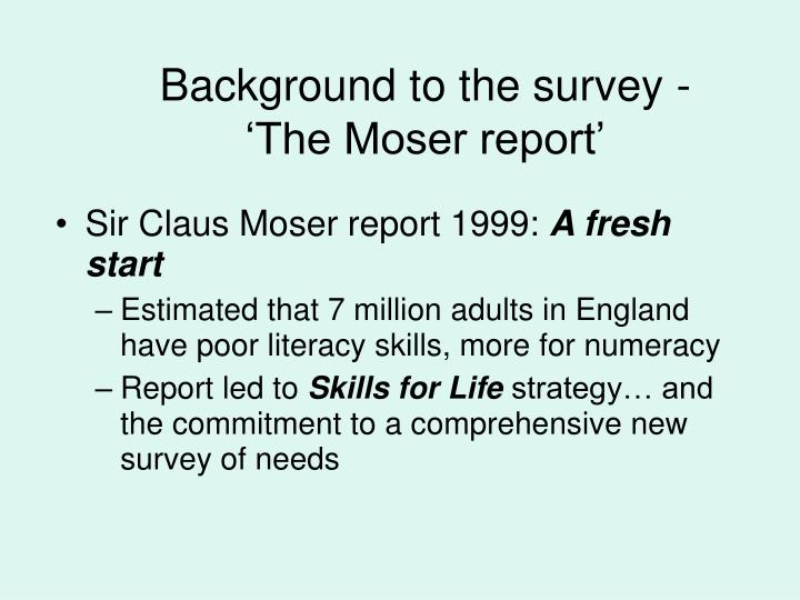 sir claus moser