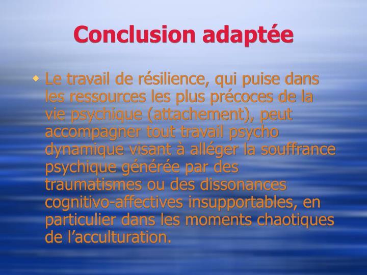 Conclusion adaptée