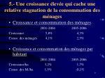 5 une croissance lev e qui cache une relative stagnation de la consommation des m nages