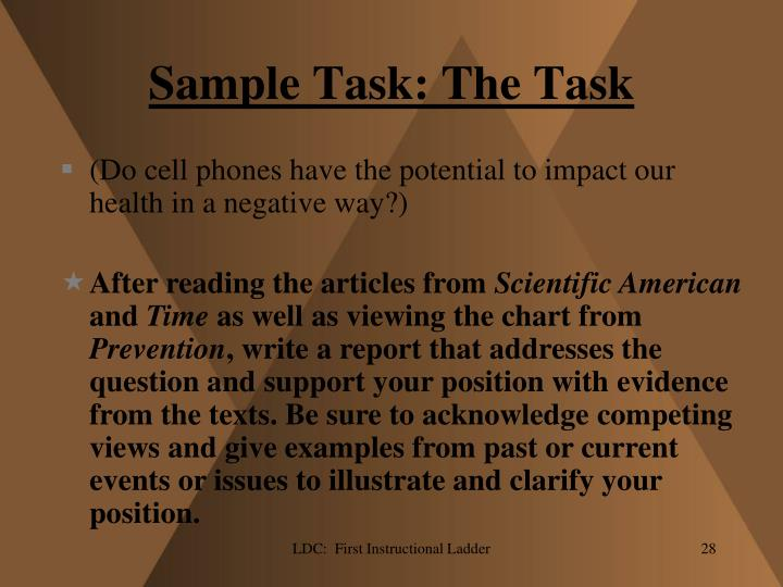 Sample Task: The Task