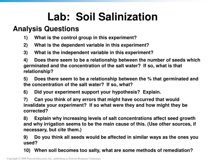 Lab:  Soil Salinization