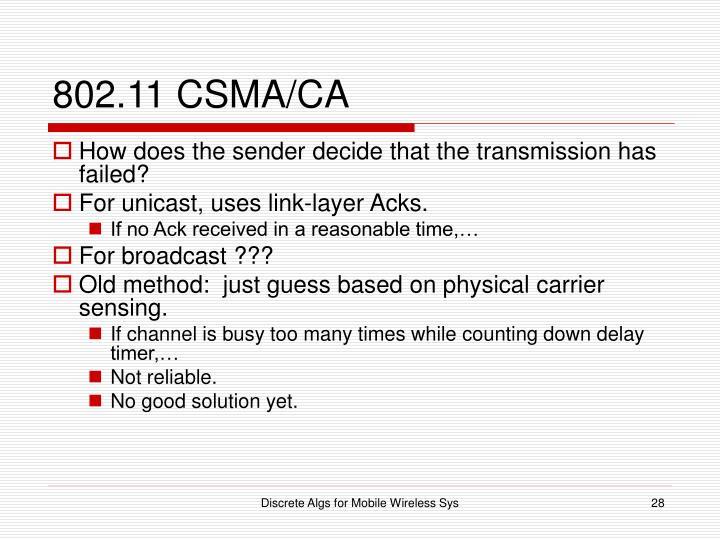 802.11 CSMA/CA