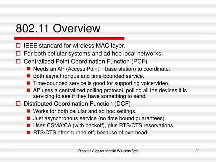 802.11 Overview
