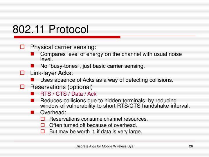 802.11 Protocol