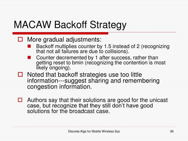 MACAW Backoff Strategy
