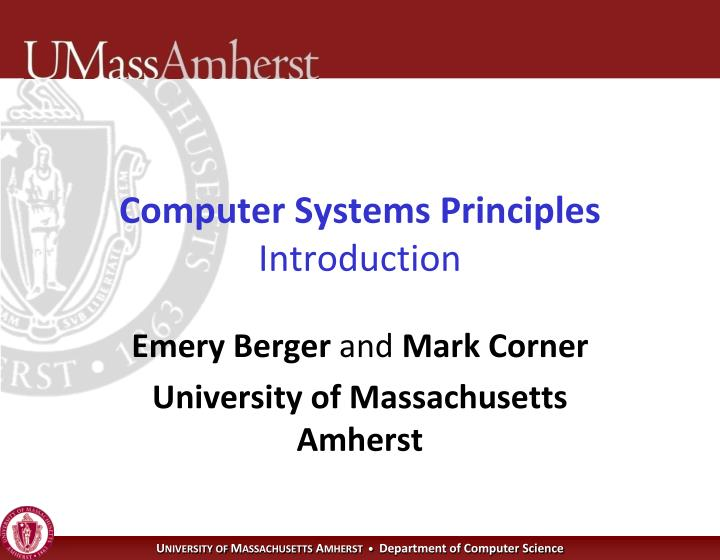 computer systems principles introduction n.