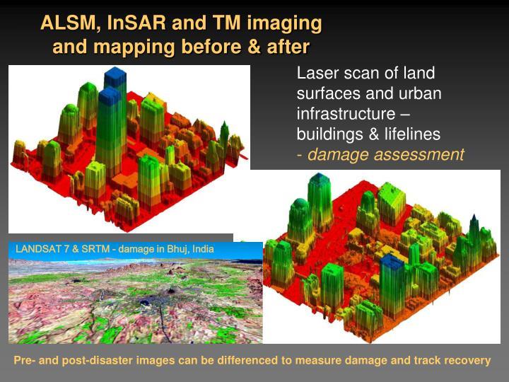 ALSM, InSAR and TM imaging