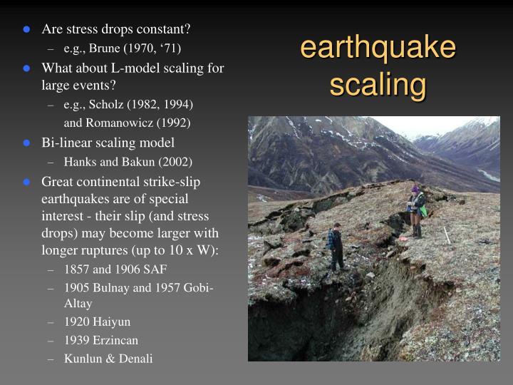 Earthquake scaling