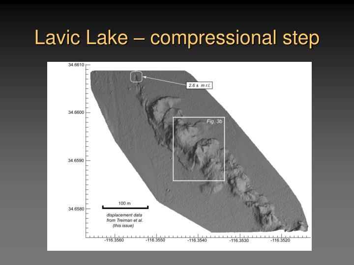 Lavic Lake – compressional step