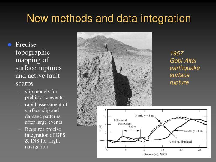 New methods and data integration