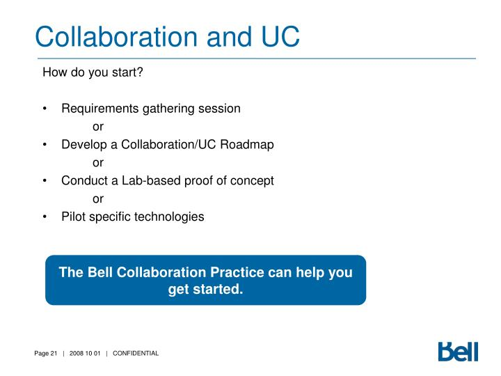 Collaboration and UC