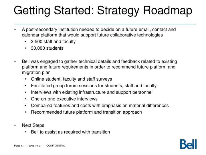 Getting Started: Strategy Roadmap