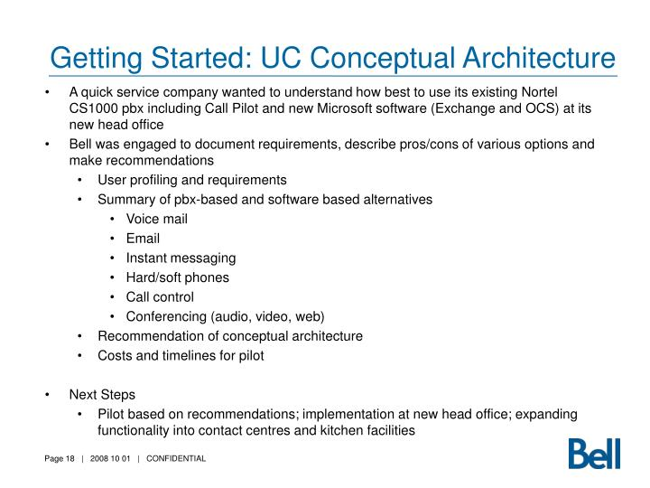 Getting Started: UC Conceptual Architecture