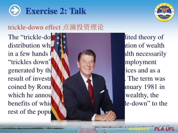 Exercise 2: Talk