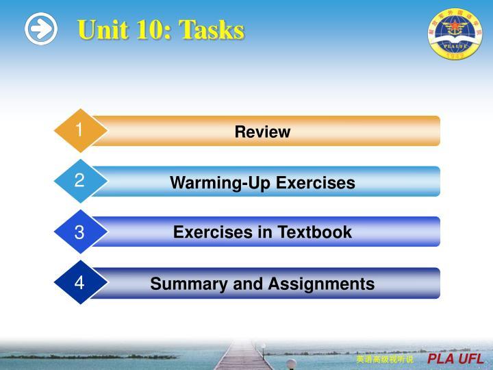 Unit 10 tasks