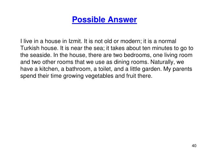 Possible Answer