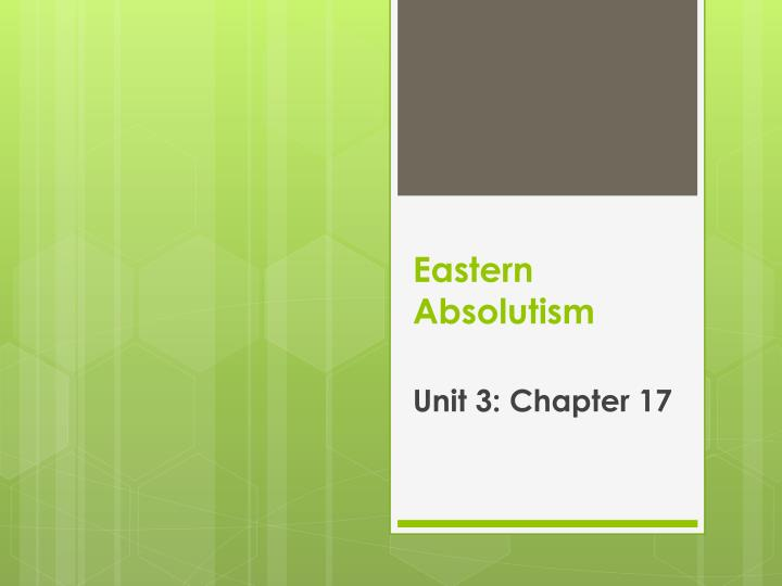 Eastern absolutism