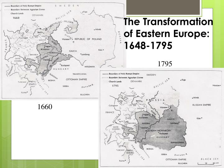 The Transformation of Eastern Europe: 1648-1795