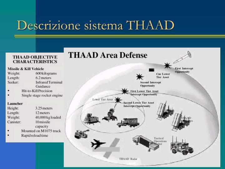 Descrizione sistema THAAD