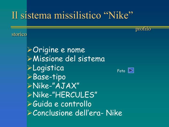 "Il sistema missilistico ""Nike"""