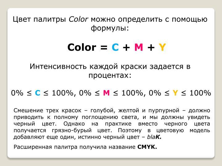 Цвет палитры