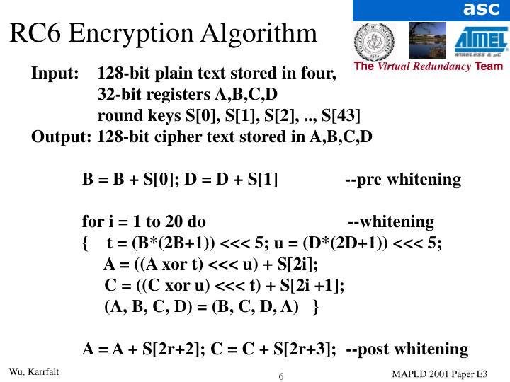RC6 Encryption Algorithm