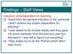 findings staff views