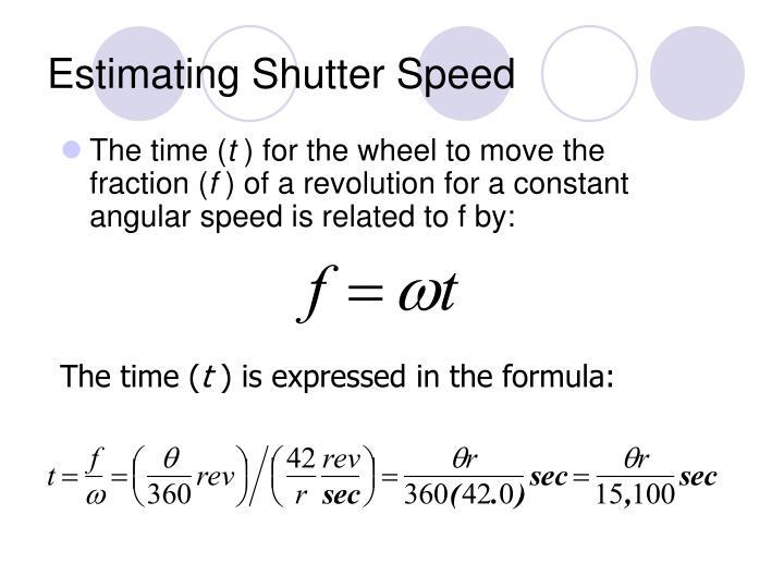 Estimating Shutter Speed