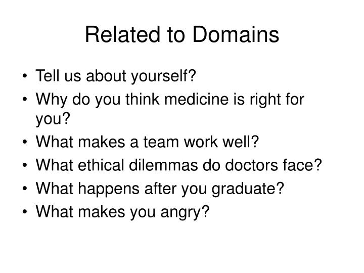 Related to Domains