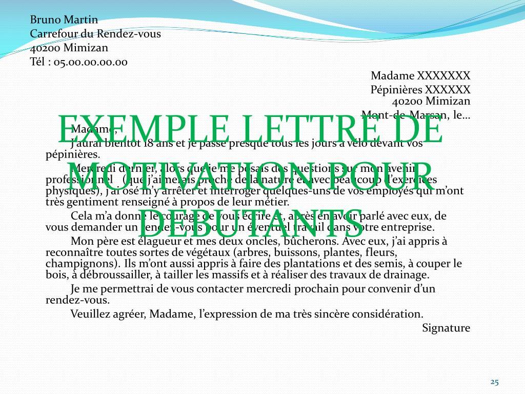Ppt La Lettre De Motivation Powerpoint Presentation Free