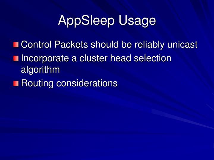 AppSleep Usage