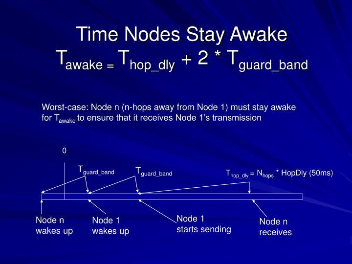 Time Nodes Stay Awake
