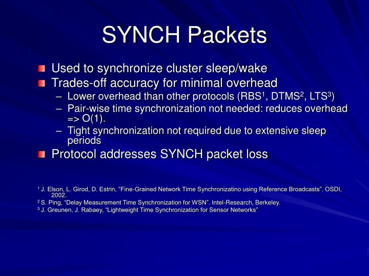 SYNCH Packets