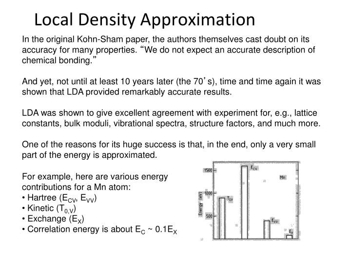 For example, here are various energy contributions for a Mn atom: