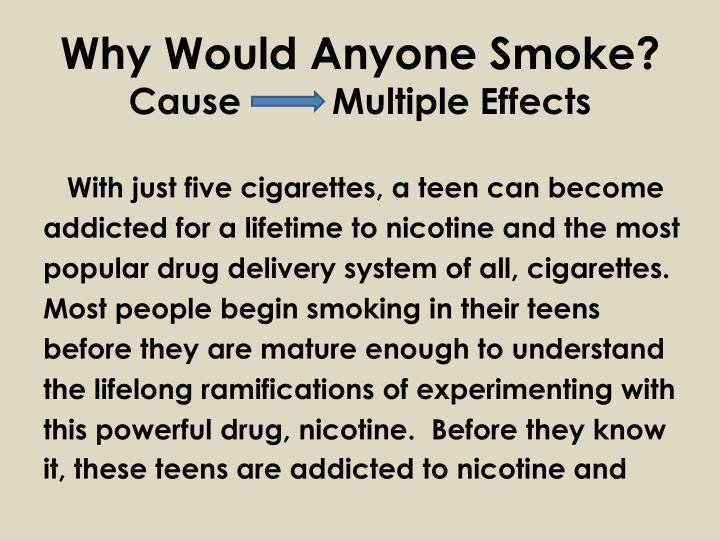 Why Would Anyone Smoke?