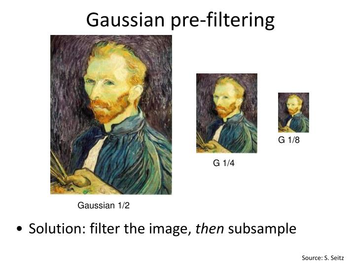 Gaussian pre-filtering