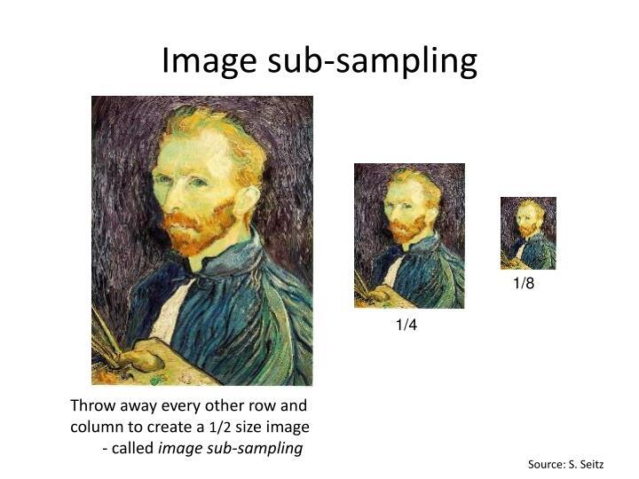 Image sub sampling